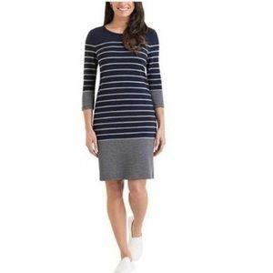 Hilary Radley 3/4 Sleeve Striped Dress